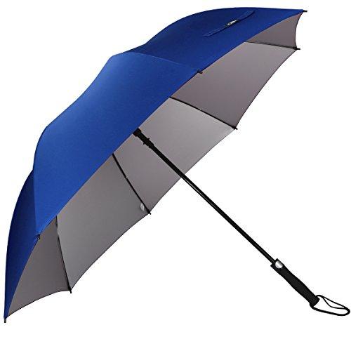 d3cff8a6c951 G4Free 62 Inch Automatic Open Golf Umbrella Anti UV Sun Protection ...